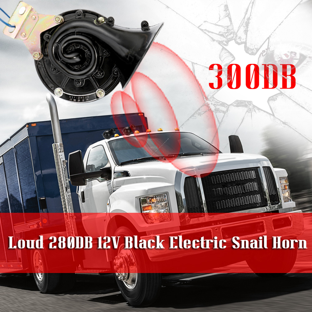 12V New Loud Low Tone Car Boat Siren Horn twin Terminal 110db For Smart