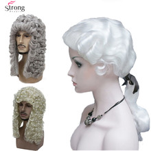 StrongBeauty Lawyer Judge Wig Cosplay Royal Grand Blonde Col