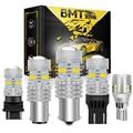 BMTxms P21W LED BAY15D PY21W BA15S Weiß 1500Lm Für LADA DRL Auto Glühbirne 1156 1157 T20 W16W T15 T10 w5W W21/5W 7443 W21W 7440