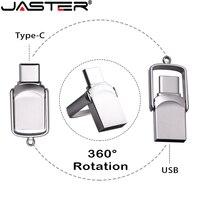 JASTER 2.0 Mini unità Flash tipo C 128GB 2 in 1 Memory Stick impermeabile 64GB Flip USB Stick 32GB Pendrive 16GB memoria esterna