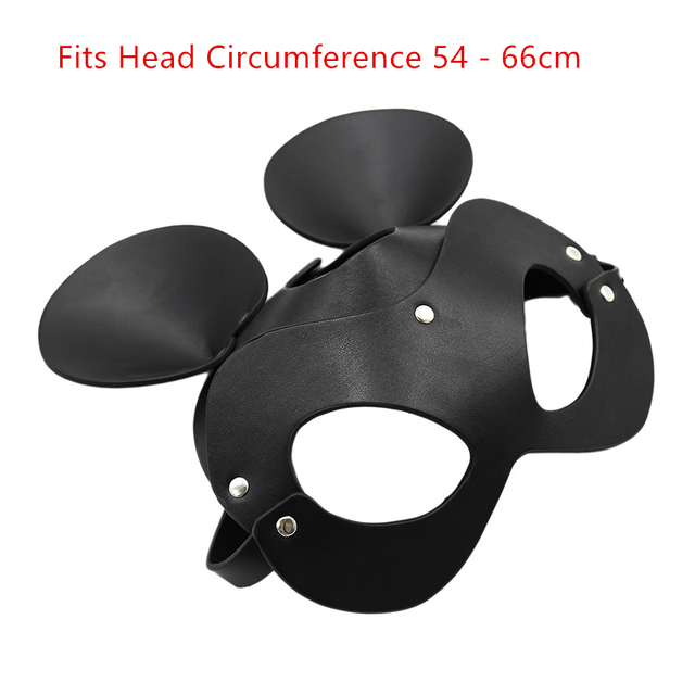 Fetish Head Mask BDSM Bondage Restraints Faux Leather Rabbit Cat Ear Bunny Mask Roleplay Sex Toy For Men Women Cosplay Games 2