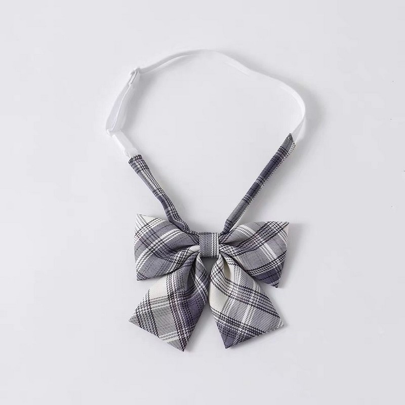 NiceMix Plaid Strap Accessories Ties Shirts Women Top Bow Tie Cute Kawaii Preppy Style Tie Up Shirt 2020 New Sweet Student Girls