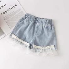 Kids Fashion Leggings Toddler Clothing Pants Shorts Lace Baby-Girl Denim Summer Children