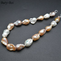 Very High Quality Pink Purple Color Fresh Water Pearl Baroque Beads Fit Necklace Jewelry Making 1 Strand
