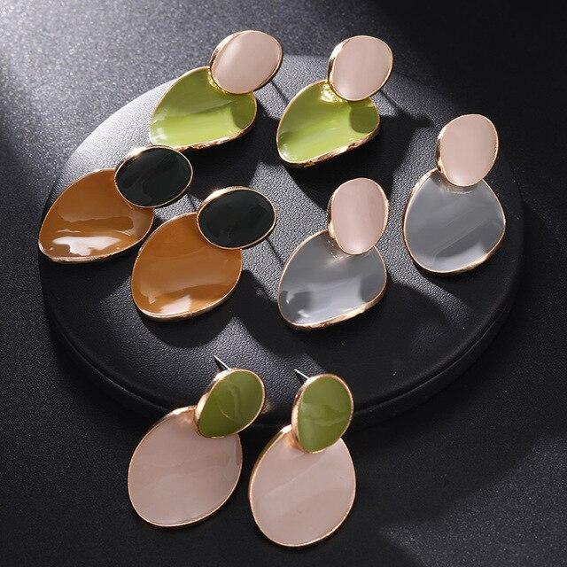 Geometric Round Earrings 2