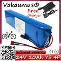 Аккумуляторная батарея 24 В с 15 а BMS 250 Вт 29,4 в 10000 мА/ч, аккумуляторная батарея для двигателя, электрического велосипеда, с зарядным устройство...