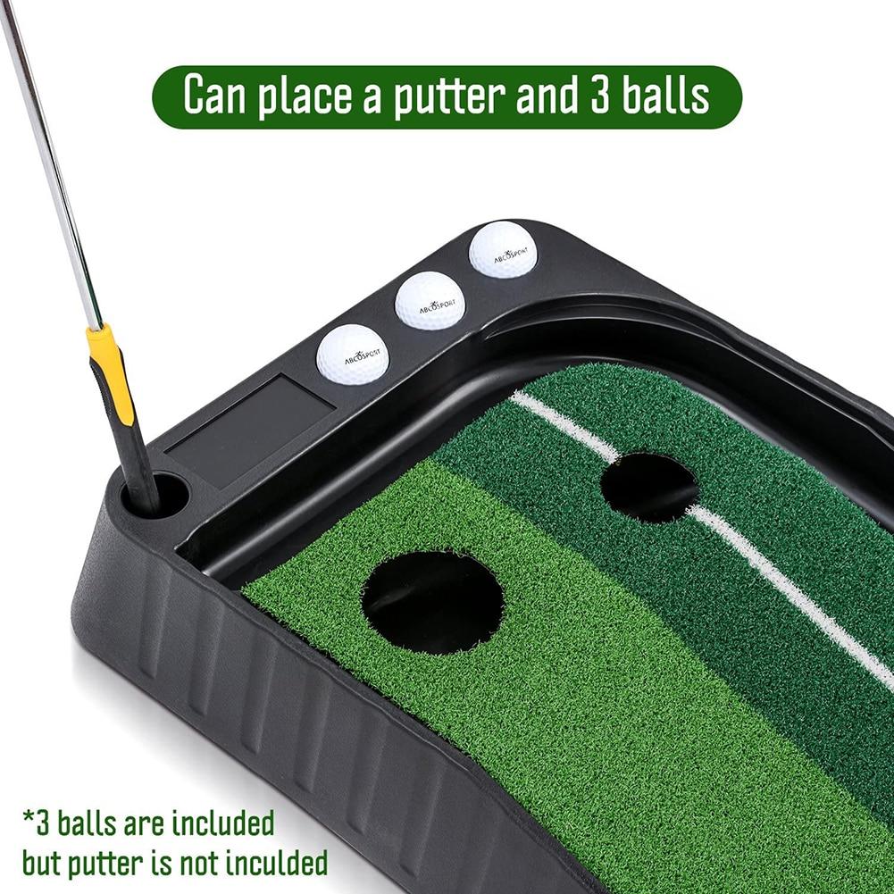 Купить с кэшбэком Indoor Golf Putting Green Portable Mat with Auto Ball Return Function Mini Golf Practice Training Aid for Home Office