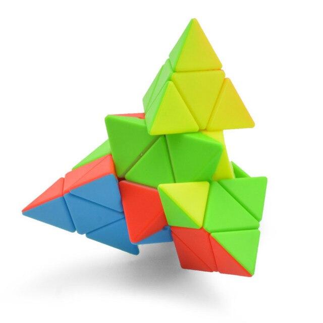 4x4x4 Pyramid Cube Black/Stickerless Magic Cube  95*95*95mm Pyramid Cube 4x4 Puzzle Pyramid Cube Special Toys For Children 4