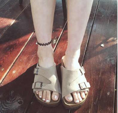 1PC ベル足首チェーンアンクレットブレスレット裸足サンダルビーチ女性の足のジュエリー