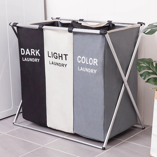 סל כביסה מחולק צבעים - שלושה דגמים שונים 1