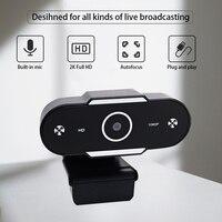 2K Autofokus Webcam Universal Mini HD USB Computer Kamera Rotierenden Kameras Für Live-Streaming Konferenz Arbeit Video Aufruf