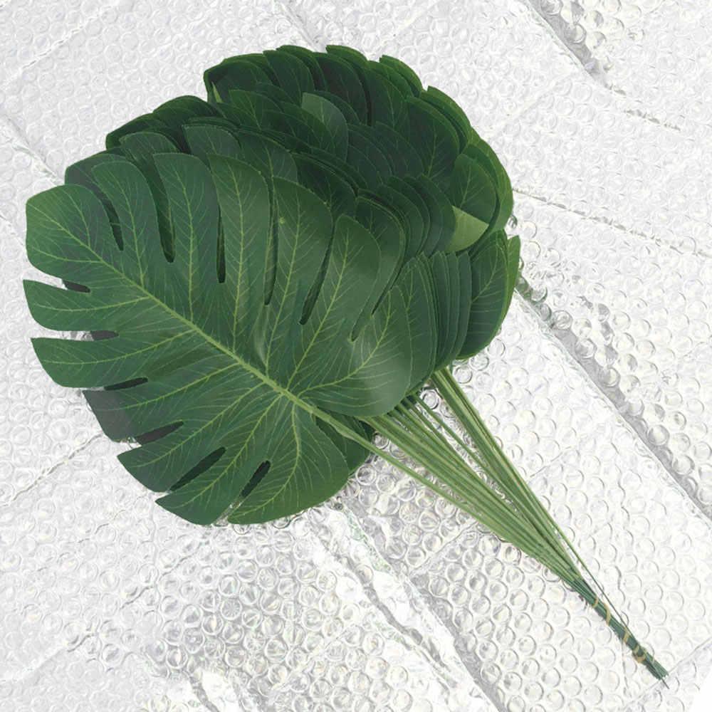 Foglie artificiali 40*18*0.05 centimetri Ornamento di Moda Falso Pianta di Palma Felce Tartaruga Foglia Di Seta Di Plastica Verde Fatto A Mano reale di Tocco