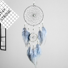 1Pcs Hanging Decoration Pearl/Feather/Iron Ring Hand Woven Dream Catchers Net Multi Purpose