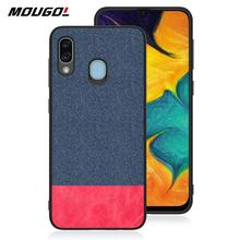 цены For Samsung Galaxy A30 Phone Case Shockproof Back Cover Cloth Fabric Silicone Soft Edge Protect Fabric For Samsung Galaxy A30