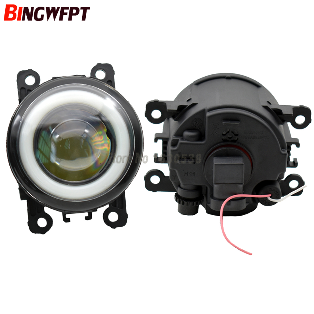 2/pair Super Bright LED Fog Light With Angel Eye For Ford Focus MK2/3 Fusion Fiesta Tourneo Transit 2006-2015  Fog Lamp Assembly