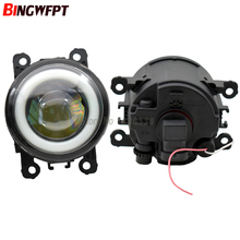 2/pair Super Bright LED Fog Light with Angel eye For Ford Focus MK2/3 Fusion Fiesta Tourneo Transit 2006 2015  Fog Lamp Assembly