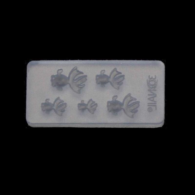 Cute Vivid Mini Size Goldfish Pendant Silicone Resin Mold Jewelry Making Tools