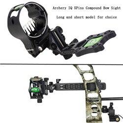1pc アーチェリー 5 ピン化合物弓 IQ 弓視力マイクロ Led ライトイルミネーション光ファイバ視力光で Bowsight 狩猟