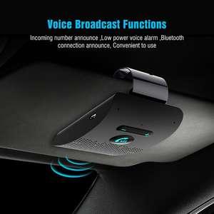 Clip Car-Kit Bluetooth-Speaker Speakerphone Wireless Phone-Sun-Visor V5.0 Vehicle