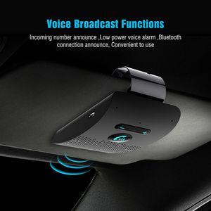 Wireless Vehicle Car Bluetooth V5.0 Bluetooth Handsfree Car Kit Wireless Bluetooth Speaker Phone Sun Visor Clip Speakerphone(China)