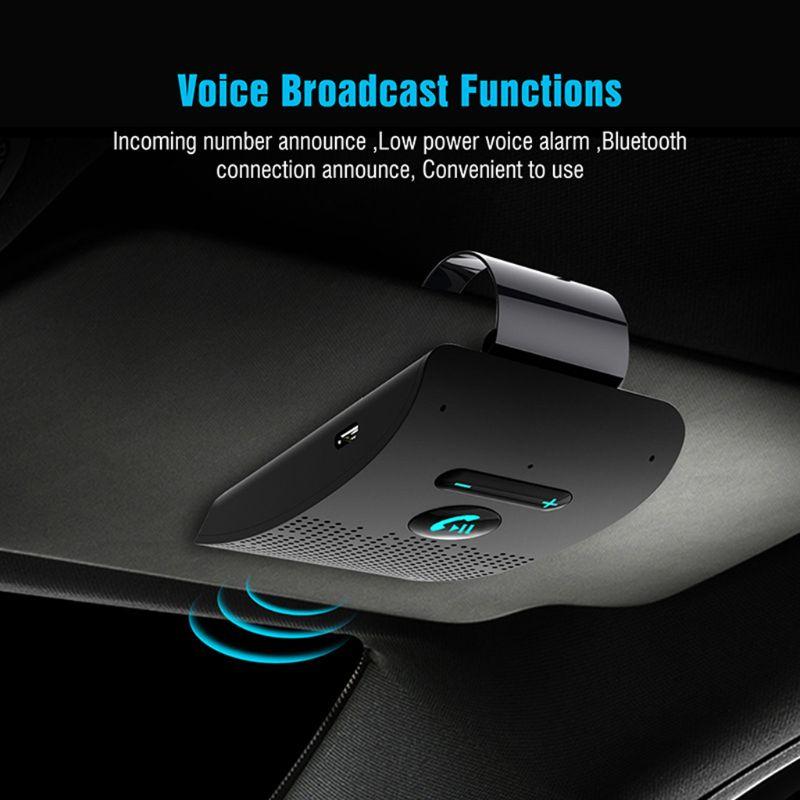 Wireless Vehicle Car Bluetooth V5.0 Bluetooth Handsfree Car Kit Wireless Bluetooth Speaker Phone Sun Visor Clip Speakerphone