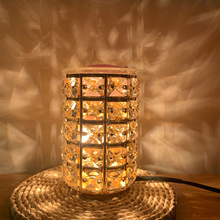 New 35W Iron Crystal Wax Melting Warmer Light Electric Furnace Melting Wax Lamp Essential Oil Lamp Suitable For Home Kitchen SPA