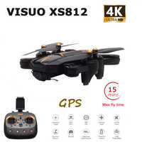 VISUO XS812 GPS RC Drone with 4K HD Camera 5G WIFI FPV Altitude Hold One Key Return RC Quadcopter Helicopter VS Xs816 SG106