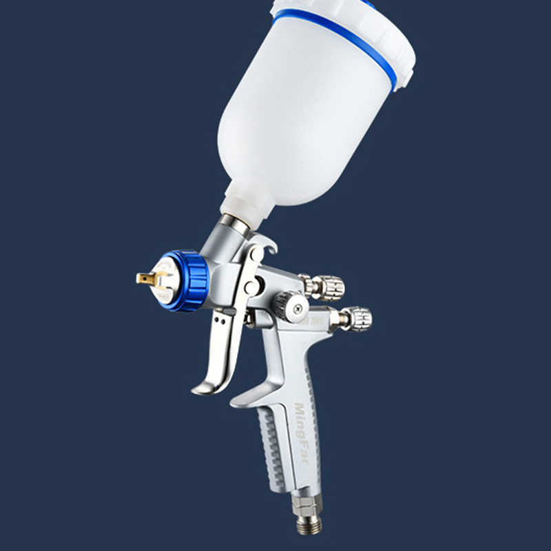 MINI 3000 HVLP Spray Paint  Gun  Noz 0.8MM / 1.0MM  Repair Paint Coating Gravity Spray Gun With Cup