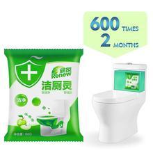 Herramienta de limpieza de baño fragancia de manzana limpiador de inodoro burbuja verde baño accesorios de cocina Envío Directo