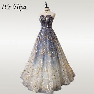 Image 1 - Es der Yiiya Abendkleid Lange Liebsten Glänzende Formales Partei Kleider OY001 Elegante Sleeveless Plus Größe robe de soiree 2020