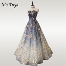 To Yiiya suknia wieczorowa długi bez ramiączek Shining formalne sukienki na imprezę OY001 elegancki bez rękawów szlafrok Plus Size de soiree 2020