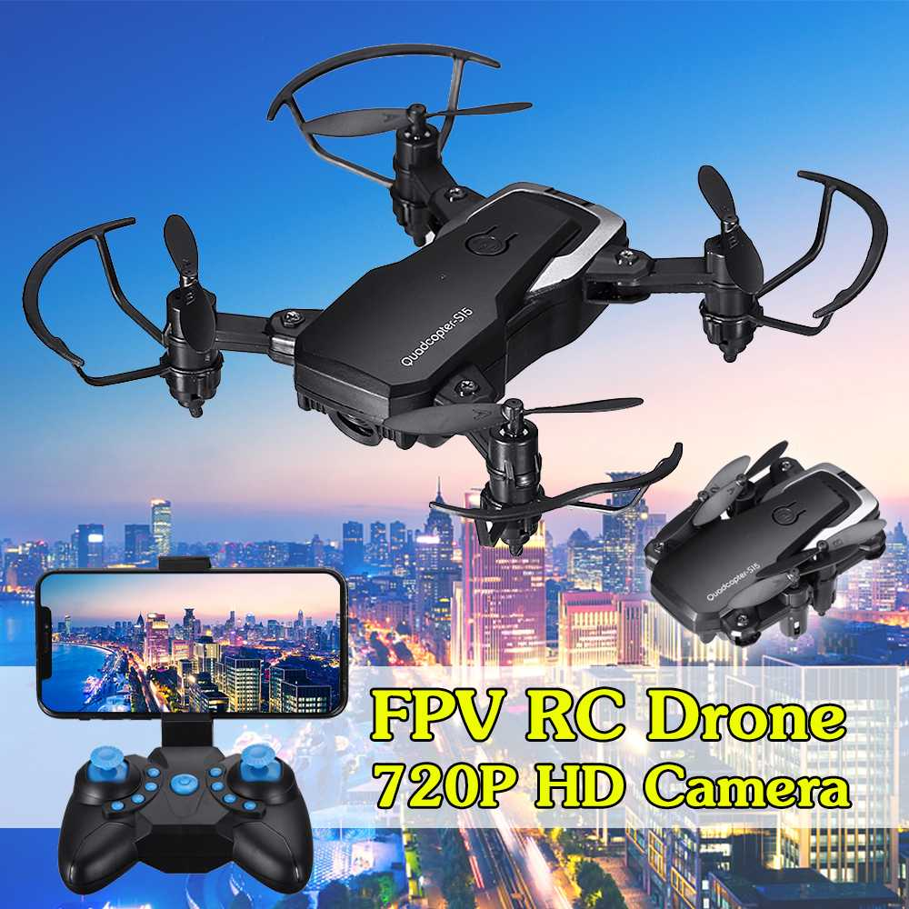 Wifi Camera Quadcopter Rc-Drone Foldable Remote-Control Mini With/without 720P Rechargeable