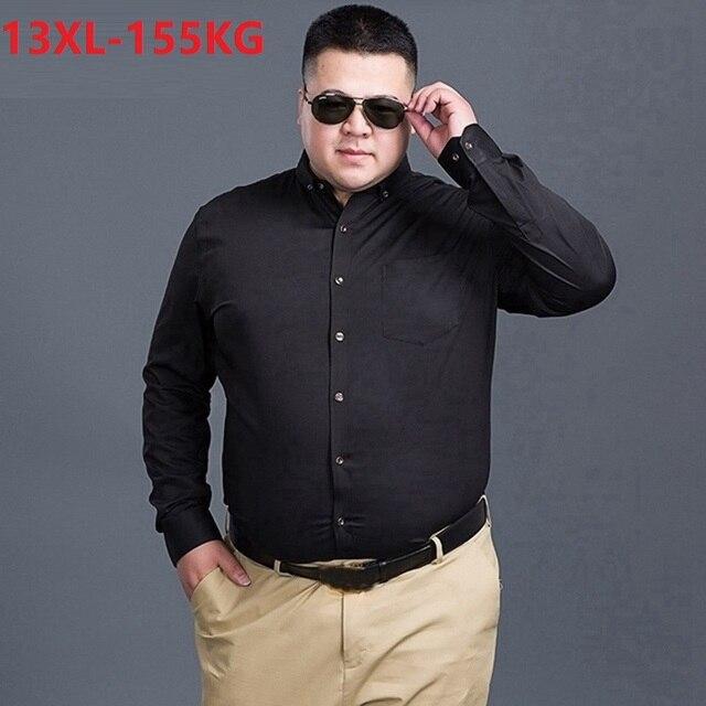 Antumn גדול גודל שמלת חולצות חתונה גברים משרד חולצה ארוך שרוול פורמליות עסקים oversize חולצה 10XL 9XL 12XL 60 56 58 סגול