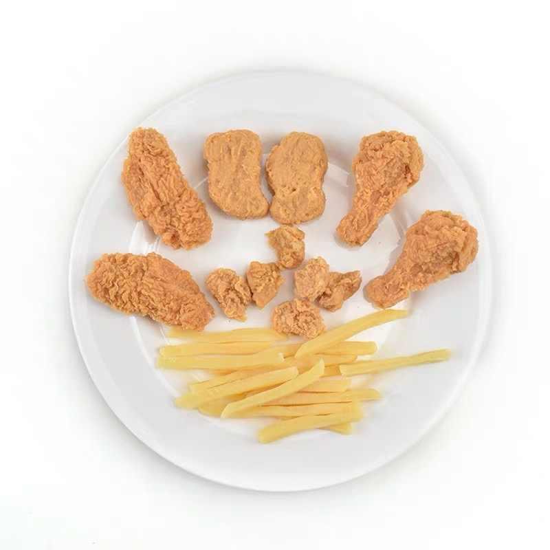 สไตล์ใหม่น่ารัก Yummy Hamburger French fries จำลองอาหารชุดตกแต่ง pretend ของเล่นของเล่นเด็ก