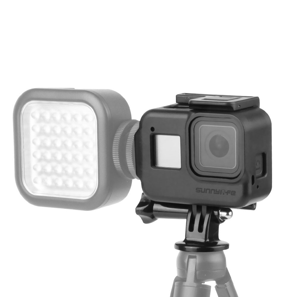 For Gopro Hero Black 8 Extend Cold Shoe Mount Fit Microphone LED Light Housing For GoPro Hero 8 Black Action Camera Frame Case