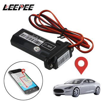 LEEPEE GT02 GSM GPS Tracker With Online Tracking Software Mini Anti-theft Waterproof Built-In Battery for Car Motorcycle Vehicle image