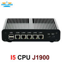 Mini PC sin ventilador pfSense Server Celeron J1900 Quad Core 4 LAN Gigabit Firewall Router Windows 10/8/7 Nettop HTPC RJ45 VGA Minipc