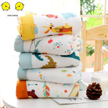 Muslin Swaddle Baby Blankets Swaddling 100% Cotton Swaddle Wrap for Newborn Babies 6 Layer Bath Towel Blanket Baby Bedding(China)