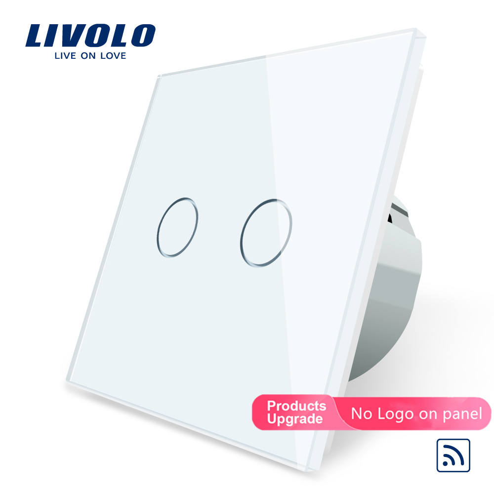 LIVOLO LIGHT TOUCH CRYSTAL GLASS PANEL TOUCH ON//OFF SWITCH SINGLE VL-C601-12