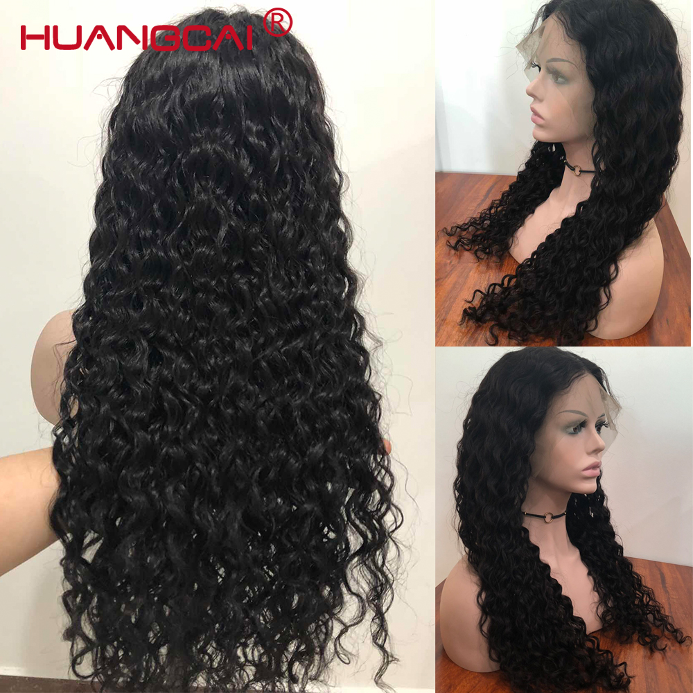 Glueless Lace Front Human Hair Wigs Pre Plucked Peruvian Water Wave Lace Front Wig For Women 150% Remy Hair 13*4 Wig