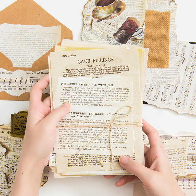 57 Pcs/Set Retro Antique Old Book Series Letter Scrapbooking/Card Making/Journaling Project DIY Retro Hangtag With Hole Cards