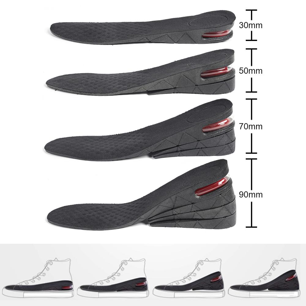 3-9cm Height Increase Insole Cushion Heightening Cushion Lift Adjustable Cut Shoe Heel Insert Taller Women Men Foot Pad