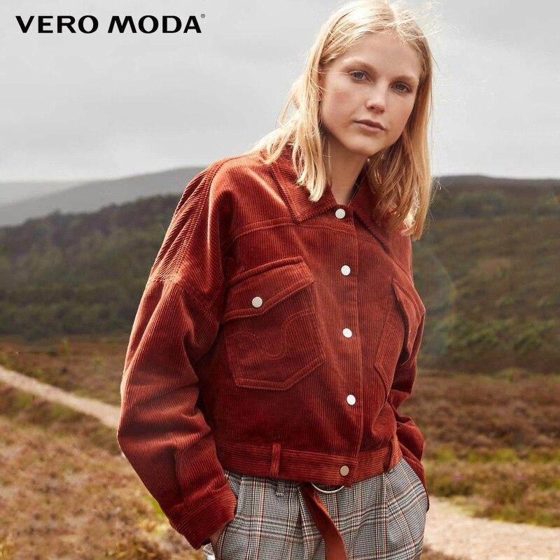 Vero Moda  100% Cotton Chest Pocket Corduroy Coat  319117502