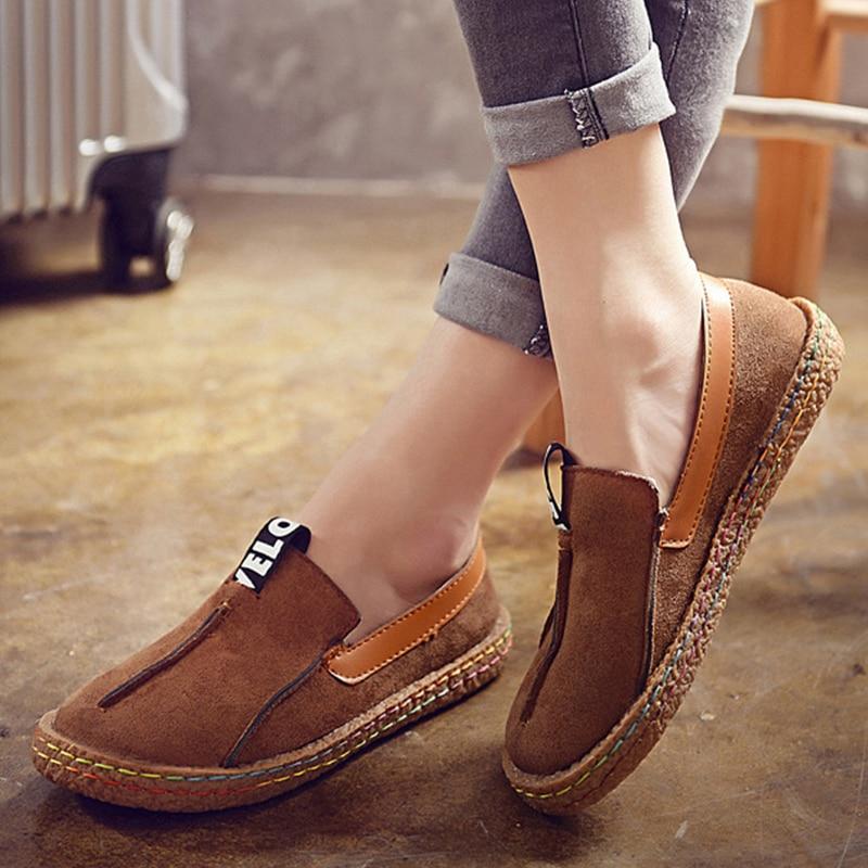 Soft Bottom Women Flats Comfort Women Loafers Plus Size 42 Flat Shoes Women Casual Shoe Mocassins Platform Shoes Female Footwear
