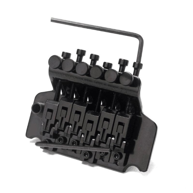 1 Set Black Tremolo Bridge Double Locking System Pulled Electric Guitar Strings Bridge Guitar Parts For Floyd. Rose