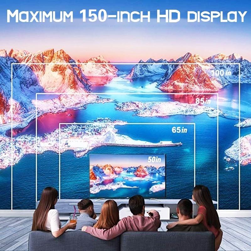 3 tipo W80 proyector de hogar HD HDMI/AV/USB/SD/VGA soporte Dolby inalámbrico de sonido/6,0 GAndroid 1 + 8/básica 2300 lúmenes del Reglamento - 2