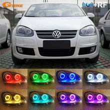 For Volkswagen VW Sagitar 2006 2007 2008 2009 2010 Xenon headlight Excellent RF Bluetooth APP Multi-Color RGB led angel eyes kit for volkswagen vw scirocco 2008 2009 2010 2012 2013 halogen headlight excellent multi color ultra bright rgb led angel eyes kit