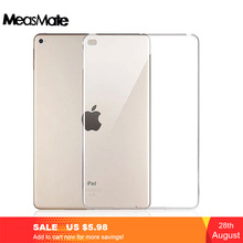 Transparent Clear Soft Slim TPU Protective Cover for iPad 2 3 4 mini1 Tablet Back Case Ipad air and For