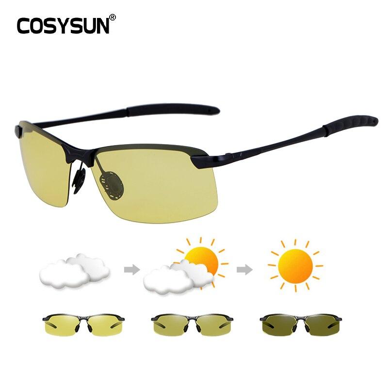 Driver Sunglasses Men Day Night Vision Glasses HD Driving Polarized Sunglasses Men Driving Glasses Photochromic  Sunglasses