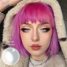 Темно-серые контактные линзы для глаз с цветными модными косметическими линзами цветные красивые косметические линзы оптом